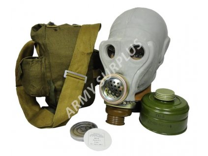 Plynová maska Rusko SchMS (PRWU) šedá s brašnou a filtrem