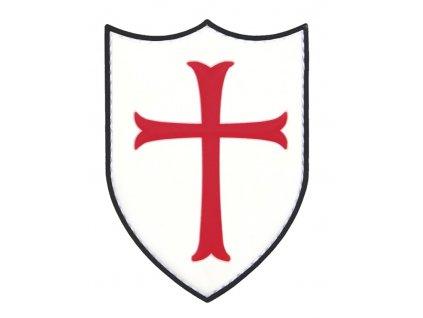 Nášivka rytířský kříž Crusader 3D PVC suchý zip