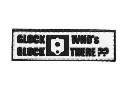 Nášivka 3D PVC Glock Glock whos there 101.INC