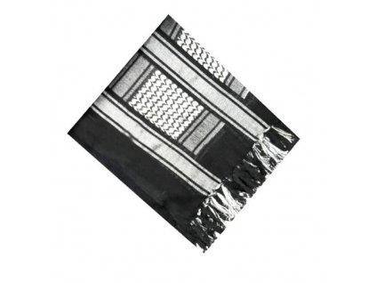Šátek palestina černá/stříbrná (shemagh, arafat)