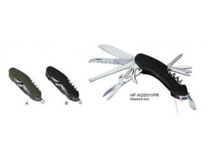 Nůž zavírací multifunkční černý