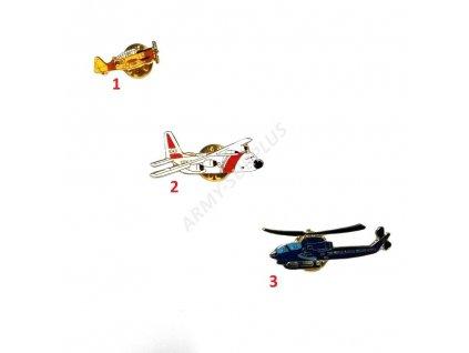 Odznak (pins) letadlo aviation barevné