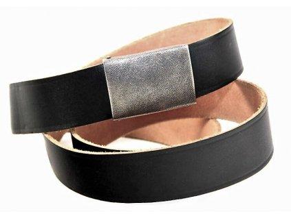 Opasek BW (Bundeswehr) kalhotový kožený černý originál