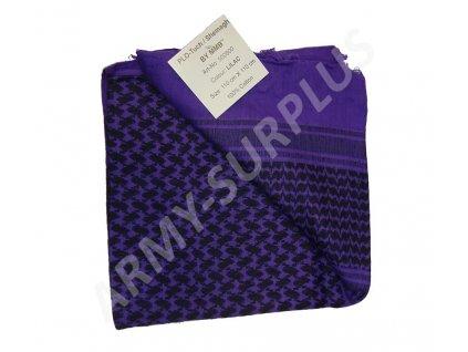 Šátek palestina lila/černá (shemagh, arafat)
