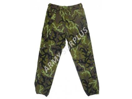 Kalhoty AČR vz.95 letní se zeleným potiskem ripstop použité