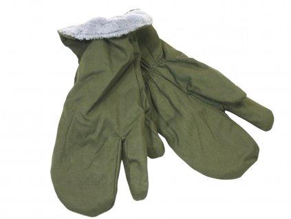 Zimní rukavice AČR vz. 85 oliv tříprsté originál