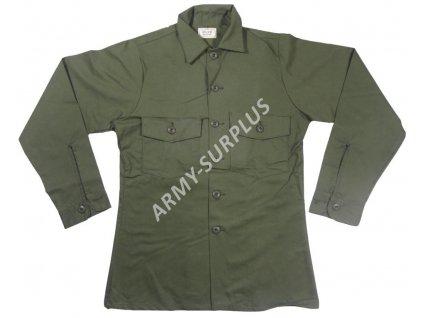 Košile US oliv Utility originál Vietnam