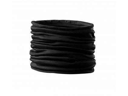 Nákrčník Twister černý (multifunkční šátek)