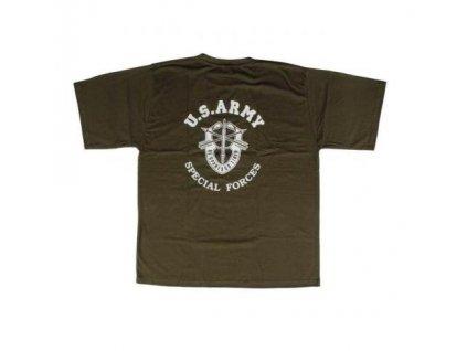 Tričko (triko) potisk oliv Special Forces