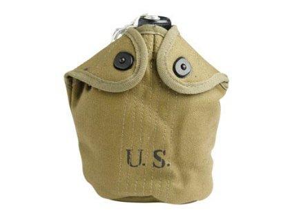 Polní láhev (čutora) US hliník s obalem a pitítko repro M1910