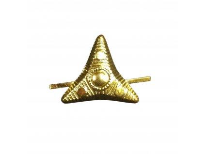 Odznak hodnost hvězda třícípá zlatová (zlatá) AČR 15x18mm