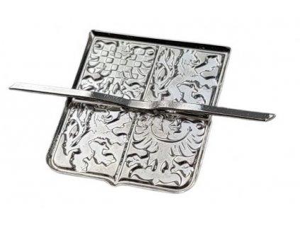 Odznak AČR na čepici stříbřitý