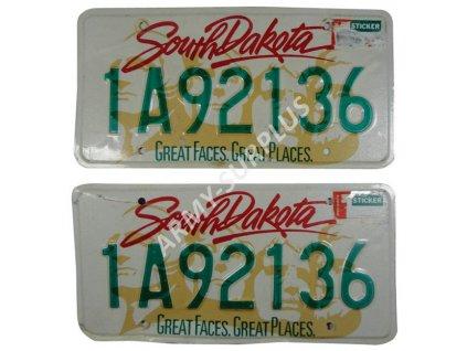 Poznávací značka na auto (License Plates) USA South Dakota 2