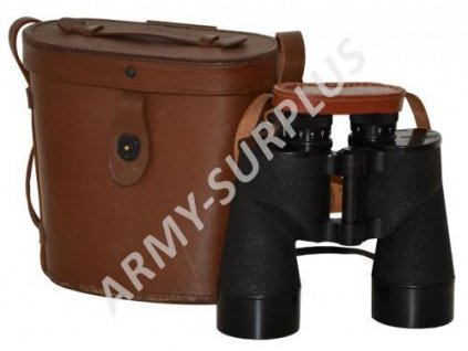 Dalekohled 7x50 binokulár US WW2 M16 originál kožené pouzdro