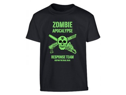 Triko (tričko) dětské  Zombie Apocalypse černé Velká Británie Kombat 185g