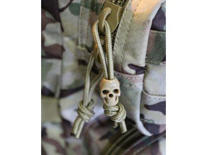Lebka (Skull,náramek) coyote na paracord sada 10 kusů Velká Británie Kombat