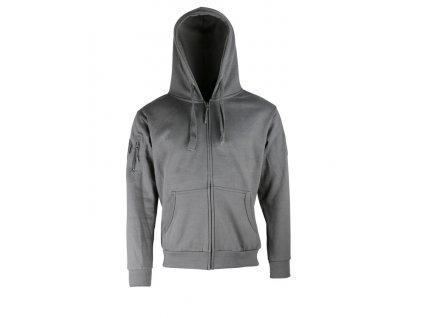 Mikina taktická s kapucí Spec-Ops Hoodie Gun Metal Grey (foliage,šedá,velcro) Kombat