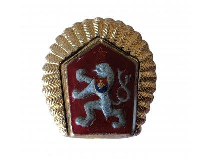 Odznak LEV ČSLA na čepici MO zlatavé lemování (okruží)