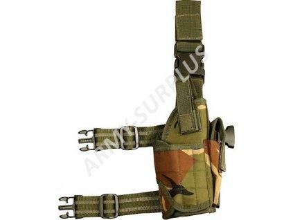 Pouzdro na zbraň stehenní Assault DPM camo Velká Británie Kombat univerzální