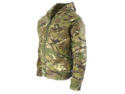 Mikina dětská fleece s kapucí BTP multicamo Velká Británie Kombat