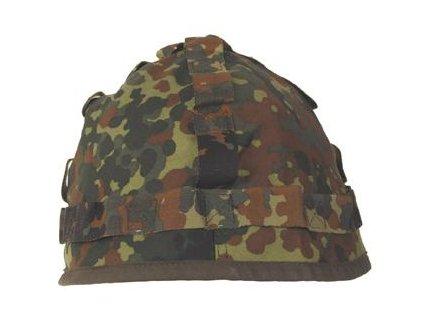 Potah (povlak,obal,převlek) na kovovou helmu BW (Bundeswehr) flecktarn