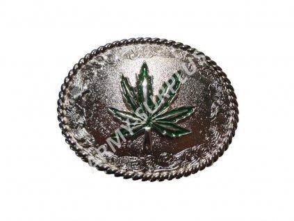 Přezka na opasek Marihuana