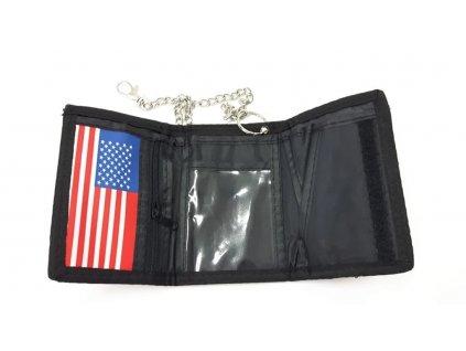 Peněženka s potiskem vlajka USA skládací