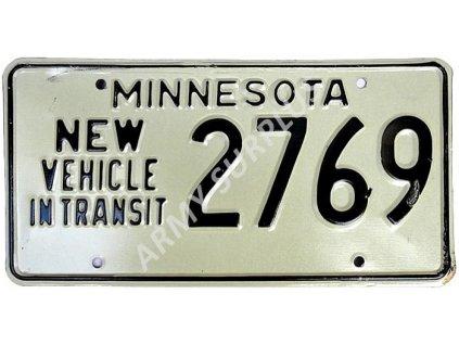 Poznávací značka na auto (License Plates) USA Minnesota new vehicle