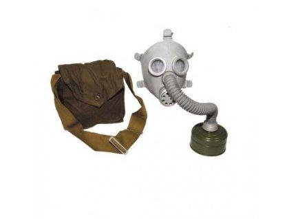 Plynová maska Rusko PDF-7 bílá dětská kompletní originál