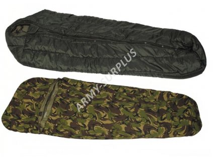 Spací systém modulární (spacák/spací pytel,žďárák Gore-tex,obal,vložka) Holandsko DPM originál