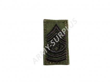 Hodnost US Army Sergeant Major (praporčík) originál
