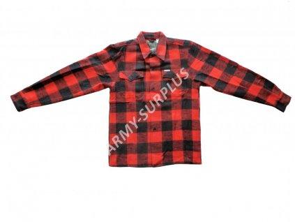 Košile dřevorubecká zimní Canadian kostkovaná s dlouhým rukávem