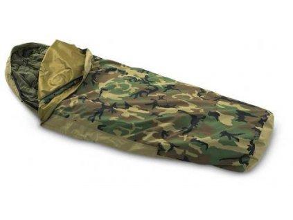 Povlak na spací pytel XL prodloužený (spacák, žďárák, obal, bivak) US ECWCS trilaminát GORE-TEX bivy cover woodland