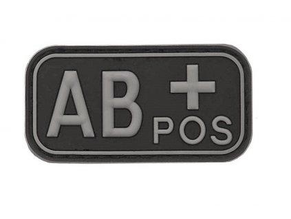 Označení krevní skupiny AB+ positive 3D PVC černá