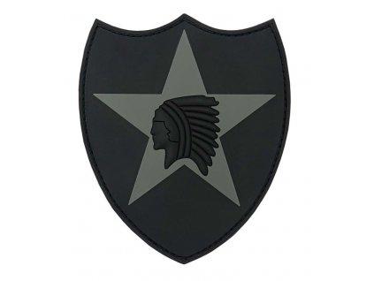 Nášivka 3D PVC 2nd Infantry (indián) šedá