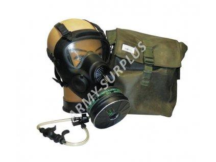 Plynová maska Polsko MP5 s filtrem,brašnou a láhví zánovní MT-213