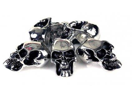 Lebka chrom na paracord (krokoměr) sada 5 kusů