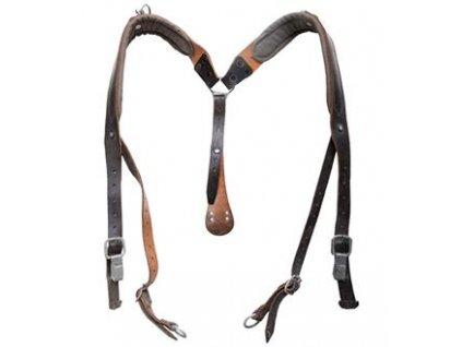 Řemení (kšandy,treky) kožené na batoh Rakousko