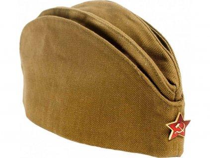 Lodička s odznakem Rusko vojsko originál CCCP Военная пилотка