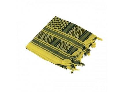 Šátek palestina žlutá/černá (shemagh, arafat)