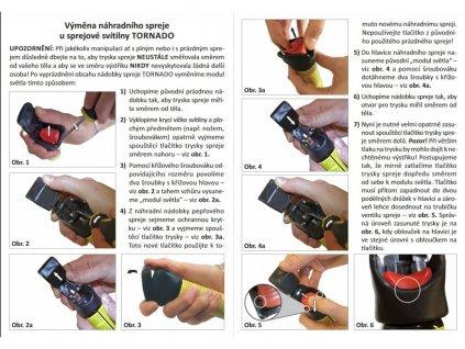 Sprejová svítilna TORNADO pepřový spray 40ml