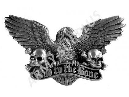 Přezka na opasek Western Bad to the Bone (orel) - starozinek