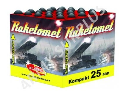 Kompaktní ohňostroj 2. třídy Raketomet 4x25 ran