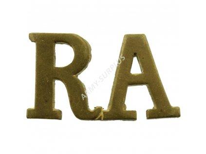 Odznak R.A britský Velká Británie Royal Artillery