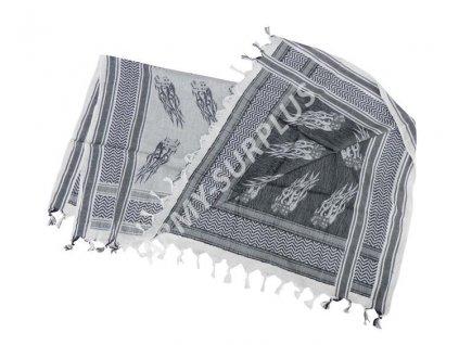 Šátek palestina (shemagh, arafat) kostky dices černo bílý Fostex