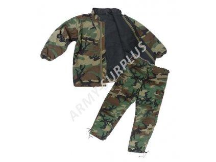 Protichemický oblek US woodland bez kapuce