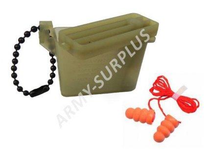 Krabička na chrániče sluchu (špunty, ear plugs) US