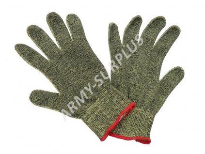Kevlarové rukavice žluto-černé