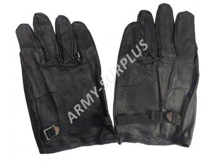 Kožené rukavice černé