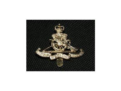 Odznak britský na čepicy (baret,brigadýrka) Velká Británie Royal Artillery Staybrite originál